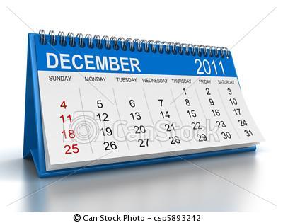 Calendario 2011 Espana.Diciembre 2011
