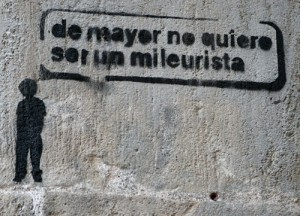 Españoles mileuristas