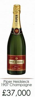 Precio Piper Heidsieck 1907 Champagne