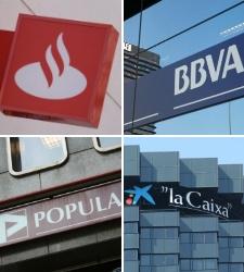 Santander, BBVA, CaixaBank y Banco Popular