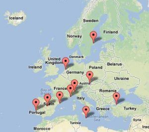 TOP DESTINATIONS IN EUROPE