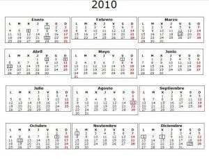 Calendario Laboral Comunidad Valenciana.Calendario Laboral 2010 Comunidad Valenciana