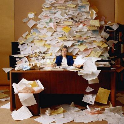 desastre en la oficina