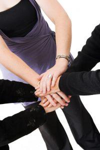 business teamwork hands