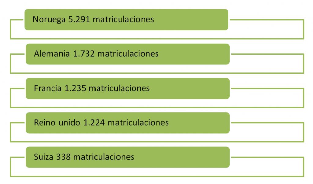 TOP 5  Matriculaciones coches eléctricos primer trimestre 2014