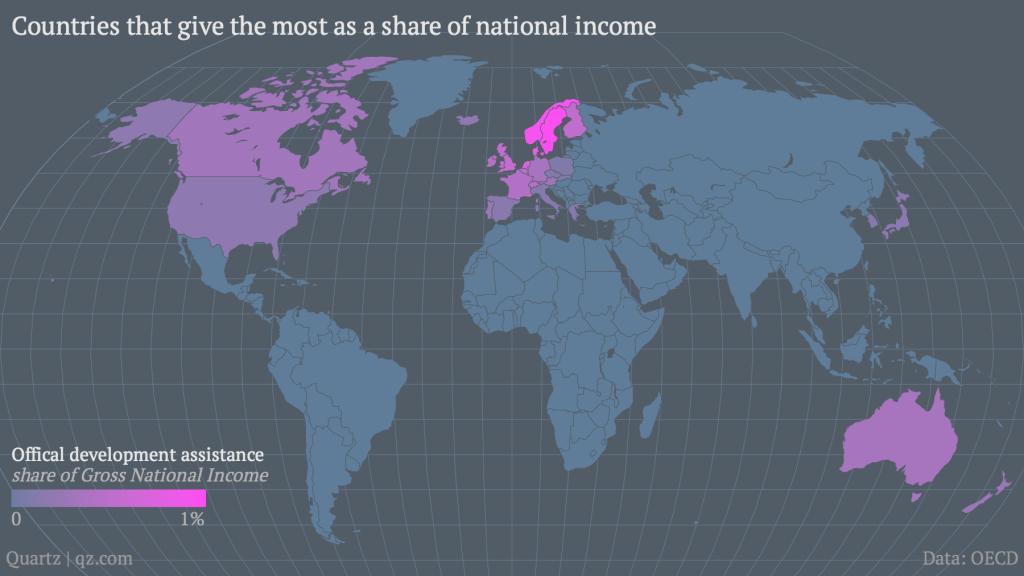 ranking países más generosos del mundo
